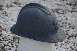 Poilu helmet at Chavannes