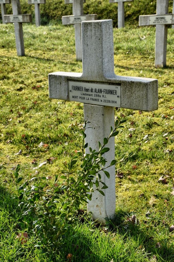 Alain Fournier's grave.