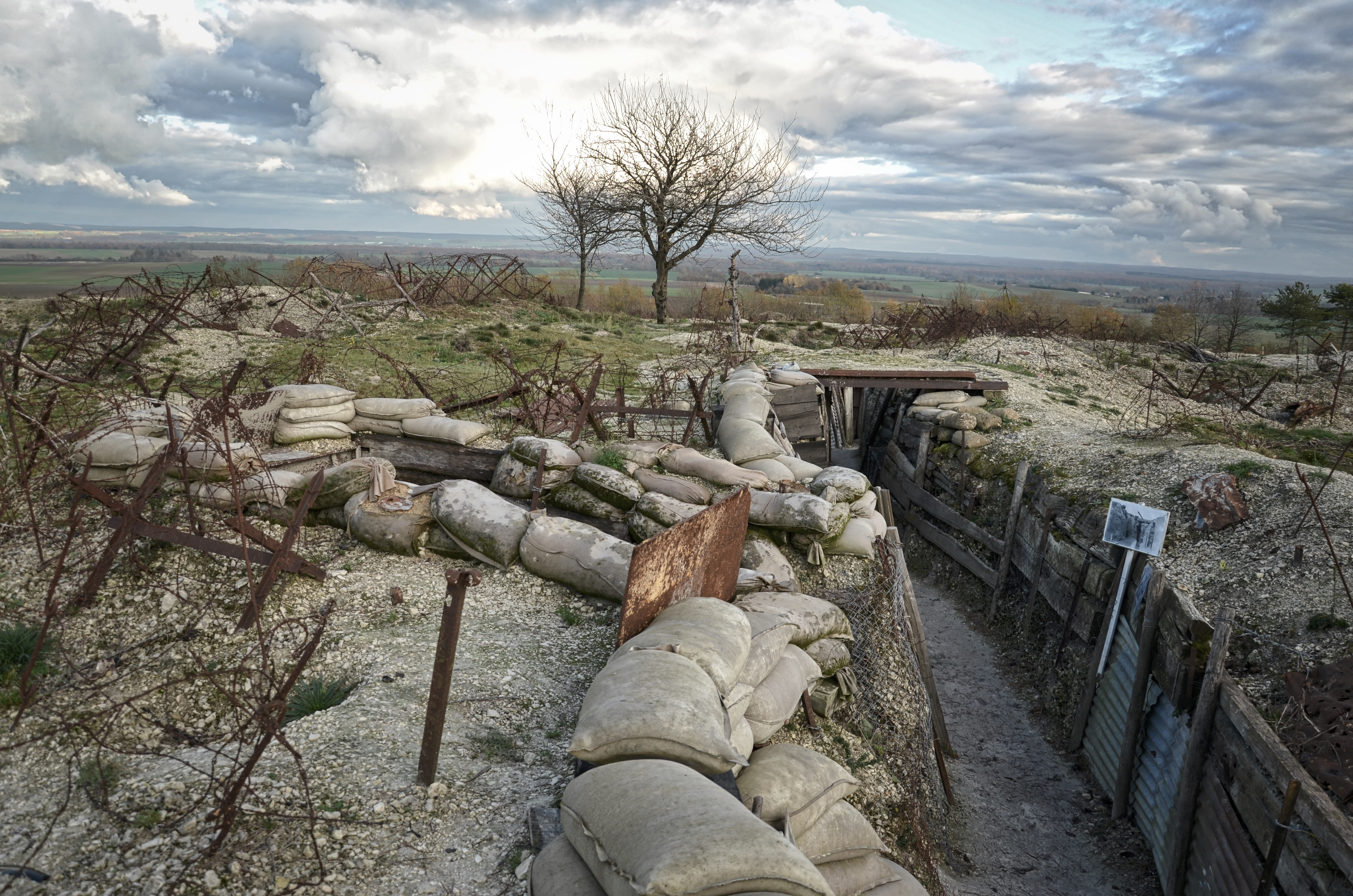 Champagne: WW1 Trenches at Massiges   WW1 Revisited