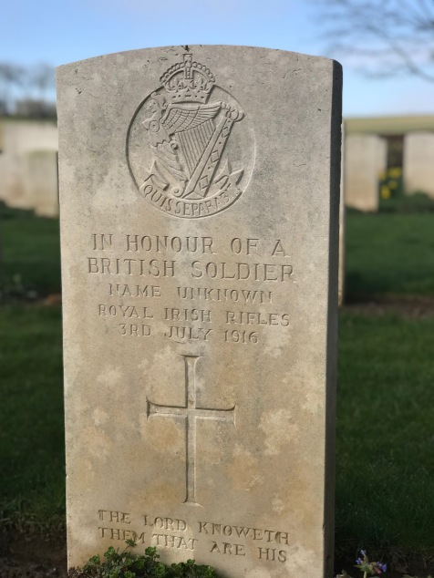 Unknown Soldier - Forceville Communal Cemetery and Extension