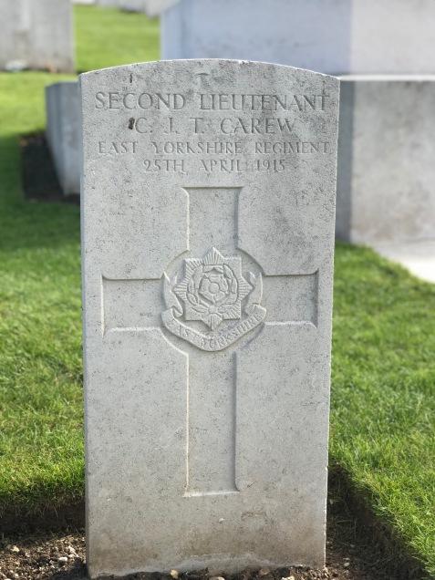 Le Treport: 2/Lt C.J.T. Carew