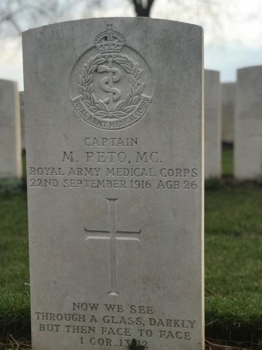 Dernancourt: Capt Morton Peto MC