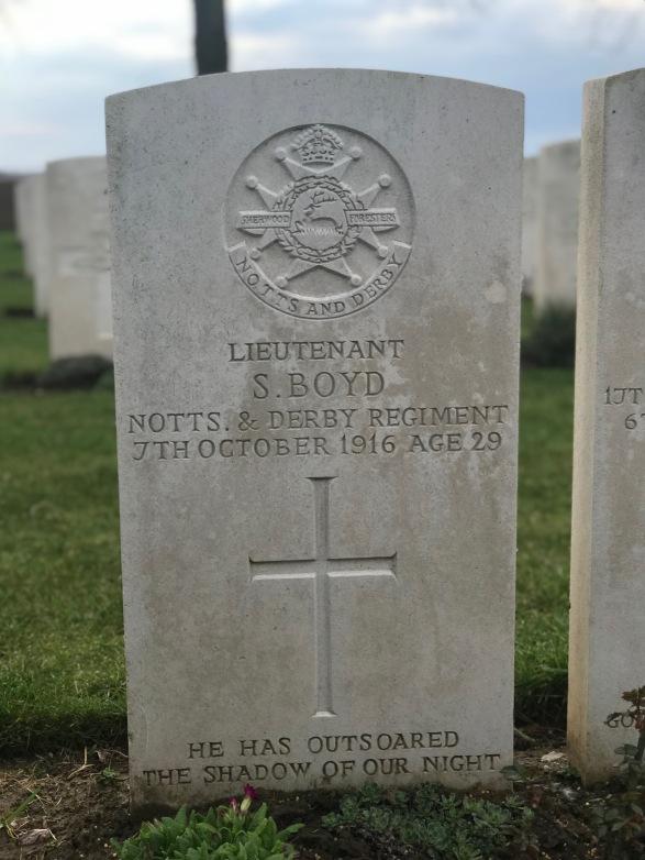 Dernancourt: Lt Stuart Boyd