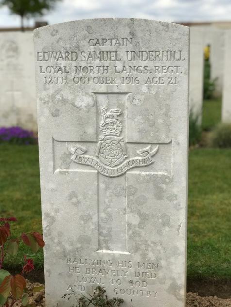 Ovillers: Capt E.S. Underhill