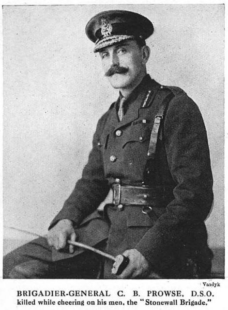 Louvencourt: Brigadier General Bertie Prowse DSO