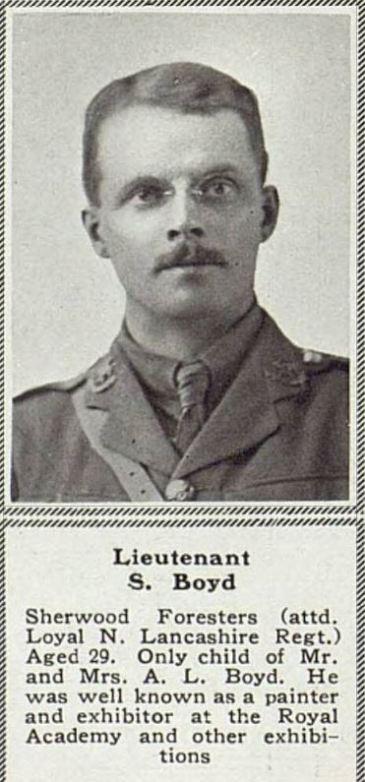 Dernancourt: 2/Lt Stuart Boyd