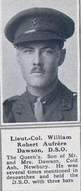 Etaples: Lt-Col W.R.A. Dawson DSO