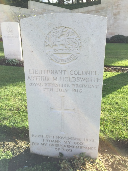 Etaples: Lt-Col A.M. Holdsworth