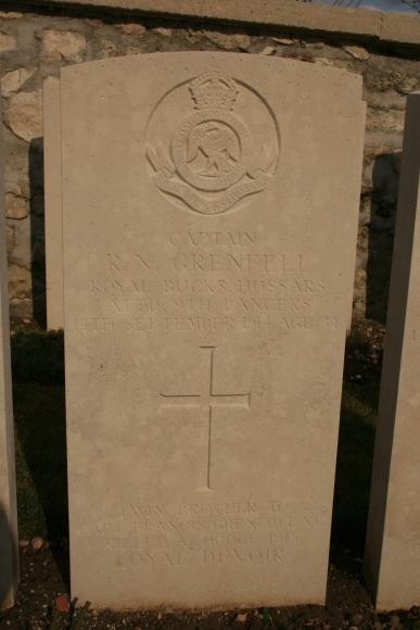 Vendresse: Capt R.N. Grenfell